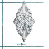 Декорирование стеклянных конструкций ограненными элементами из стекла - издавна является популярным.