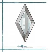 Фацетные элементы используются для оформления окон, дверных блоков, стеклянных потолков, перегородок или зеркал
